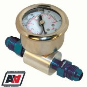 Fuel Pressure Test Gauge Inline Adaptor With AN6 Hose Unions High Pressure